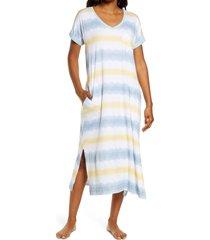 women's z well tie dye nightgown, size x-small - beige