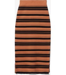 proenza schouler white label compact stripe skirt black/cinnamon m