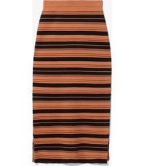 proenza schouler white label compact stripe skirt black/cinnamon s
