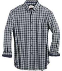 joseph abboud charcoal plaid cotton and cashmere classic fit sport shirt