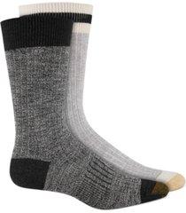 gold toe men's 2-pk. textured crew socks