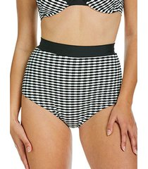 bikini sapph eva zwart-witte hoge taille zwembroekjes