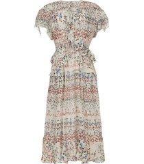maxi jurk met print lanty  wit