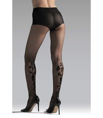 natori marilyn sheer tights, women's, black, size l natori