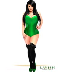daisy corsets green satin corset romper