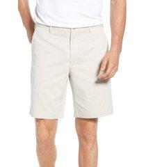 men's peter millar crown comfort chino shorts, size 34 - beige
