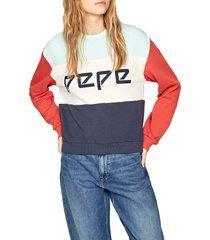 buzo azul-naranja-blanco pepe jeans
