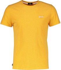 superdry t-shirt - slim fit - oker