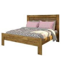 cama casal safira ipe rustic tcil móveis marrom
