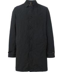 aspesi single breasted padded coat - black