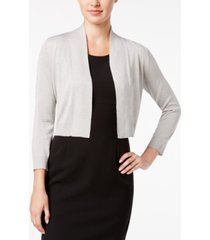 calvin klein three-quarter-sleeve glitter shrug cardigan