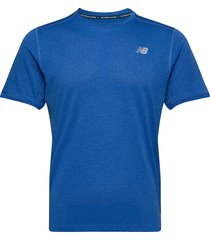 impact run ss t-shirts short-sleeved blå new balance