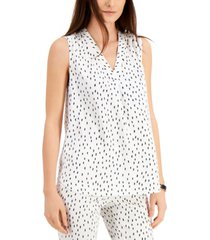 alfani abstract-print shell top, created for macy's