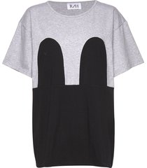 mickey loose tee t-shirts & tops short-sleeved grijs r/h studio