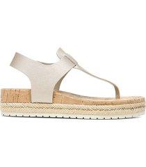 vince women's flint-b leather thong sandals - moonstone - size 7