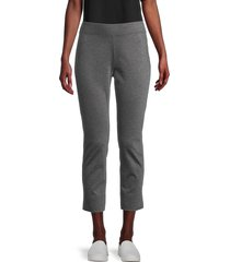 eileen fisher women's cropped pull-on pants - ash - size xl