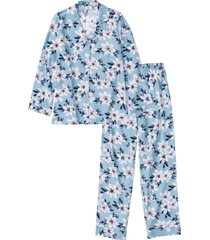 pigiama in flanella (blu) - bpc bonprix collection