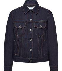 prada selvedge denim blouson jacket - blue