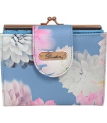 buxton women's photo floral rfid lexington wallet