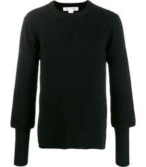 comme des garçons shirt relaxed slim cuff sweater - black