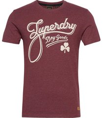 ss workwear graphic tee 185 t-shirts short-sleeved röd superdry