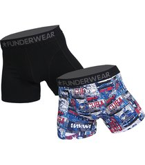funderwear 2 pak heren boxer 76018-m