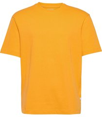 slhloosegilman220 ss o-neck tee s t-shirts short-sleeved gul selected homme