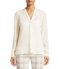 scarf silk blouse