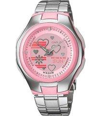 reloj casio lcf-10d-4a digital 100% original-rosado