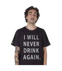 camiseta   stoned hangover preta