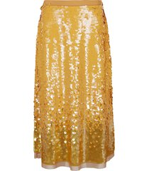 tory burch sequin embellished skirt