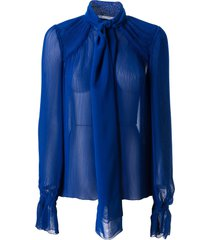 marco de vincenzo scarfed ruffled detail blouse
