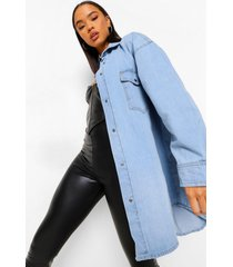 oversized spijkerblouse, blue