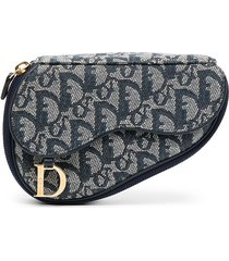 christian dior pre-owned trotter saddle pouch - grey
