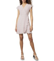 rails women's koreen printed wrap dress - pink floral - size m