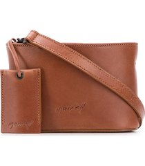 marsèll oval box crossbody bag - brown