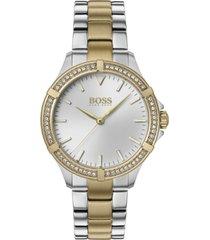 boss women's mini sport two-tone stainless steel bracelet watch 32mm