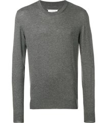 maison margiela elbow patch sweater - grey