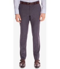 boss men's slim-fit wool dress pants