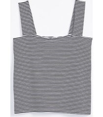 loft petite striped fitted square neck outfit-making tank