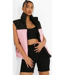 colour block bodywarmer, pink