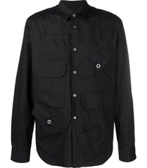 black comme des garçons multi-pocket cotton shirt