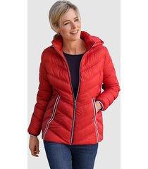 gewatteerde jas dress in rood