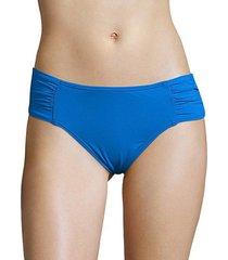 pearl solids shirred hipster bikini