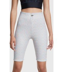 legging desigual cycling legging studio gris - calce ajustado