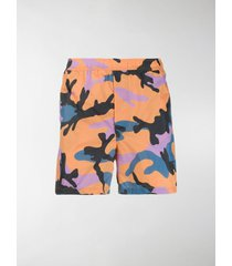 valentino camouflage print swimming trunks