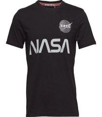 nasa reflective t t-shirts short-sleeved svart alpha industries