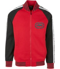 ecko unltd men's logo tape track jacket