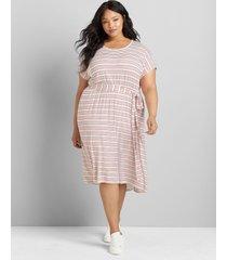lane bryant women's strappy back fit & flare dress 34/36 joy stripe