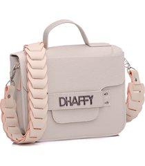 bolsa dhaffy bolsas alça trabalhada branco